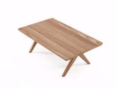 - Rectangular teak coffee table TRIBUTE TB02-T - KARPENTER