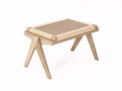 - Rope and oak stool TRIBUTE TB14-O - KARPENTER