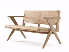 - 2 seater rope and oak sofa TRIBUTE TB16-O - KARPENTER