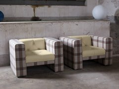 - Tufted upholstered armchair with armrests TUBBY | Armchair - Domingo Salotti