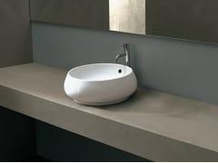 - Countertop round ceramic washbasin TULIP BIG - Alice Ceramica