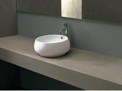 - Countertop round ceramic washbasin TULIP SMALL - Alice Ceramica