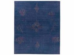 - Handmade rectangular rug TUMULTE BLUE - Golran