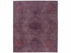 - Handmade rectangular rug TUMULTE PURPLE - Golran