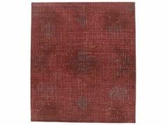 - Handmade rectangular rug TUMULTE RED - Golran