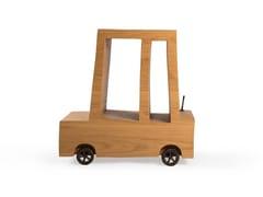 Tavolino alto in rovere con portarivisteTURBO TABLE | Tavolino alto - MOOOI©