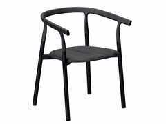 - Aluminium and wood chair with armrests TWIG 1 - 10A - Alias