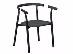 - Aluminium and wood chair with armrests TWIG 3 - 10B - Alias