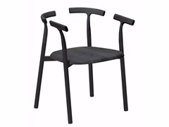 - Aluminium and wood chair with armrests TWIG 4 - 10C - Alias