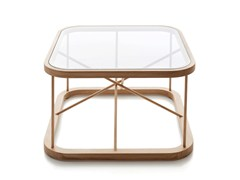Tavolino da caffè quadrato in legno e vetroTWIGGY | Tavolino quadrato - WOODNOTES