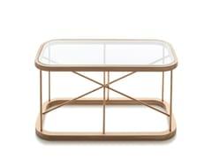 Tavolino da caffè rettangolare in legno e vetroTWIGGY | Tavolino rettangolare - WOODNOTES