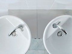 - Corner ceramic washbasin TWIN SET 42 | Corner washbasin - CERAMICA FLAMINIA
