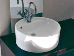 - Countertop ceramic washbasin TWIN SET 42   Countertop washbasin - CERAMICA FLAMINIA