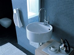 - Wall-mounted ceramic washbasin TWIN SET 42 | Wall-mounted washbasin - CERAMICA FLAMINIA