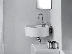 - Corner ceramic washbasin TWIN SET 52 | Corner washbasin - CERAMICA FLAMINIA