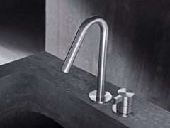 - 2 hole countertop single handle stainless steel washbasin mixer TXQ30 | Washbasin mixer - Radomonte