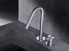 - Miscelatore per lavabo a 2 fori da piano monocomando in acciaio inox TXQ30 | Miscelatore per lavabo - Radomonte