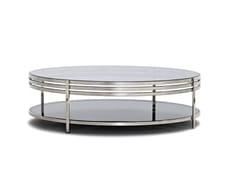 - Tavolino basso in acciaio lucido ULA | Tavolino in acciaio lucido - Arketipo