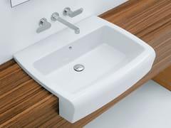 - Semi-inset ceramic washbasin UNA 75 - CERAMICA FLAMINIA