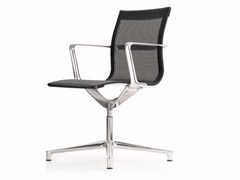 - Swivel mesh task chair with 4-Spoke base with armrests UNA CHAIR MANAGMENT | Mesh task chair - ICF