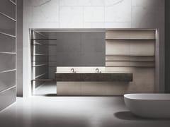 Mobile lavabo doppio con specchioUPPER WALL | Mobile lavabo con specchio - BOFFI