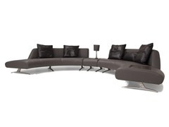 - Corner sectional upholstered leather sofa V114 COMPOSITION 2 | Sectional sofa - Aston Martin