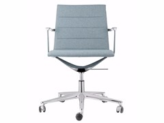 - Swivel fabric task chair with 5-Spoke base with casters VALEA ELLE | Fabric task chair - ICF