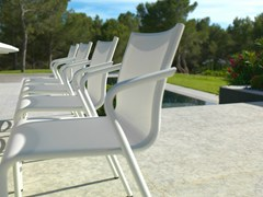 - Stackable Batyline® garden chair with armrests HYBRID 77   Chair - Les jardins