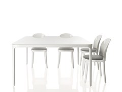 - Square glass and aluminium table VANITY TABLE   Table - Magis