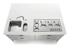 Lavello sottotop in acciaio inoxRAGGIO 60 | Lavello sottotop - ALPES-INOX