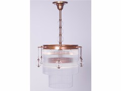 - Lampadario a luce diretta fatta a mano in ottone VERSAILLES II | Lampada a sospensione - Patinas Lighting