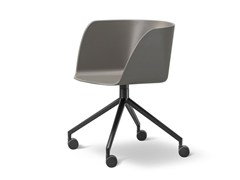 - Chair with 4-spoke base with casters VERVE | Chair with casters - FREDERICIA FURNITURE