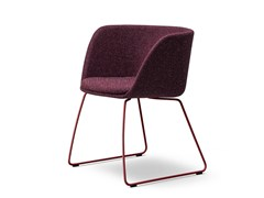 - Sled base fabric chair VERVE | Fabric chair - FREDERICIA FURNITURE