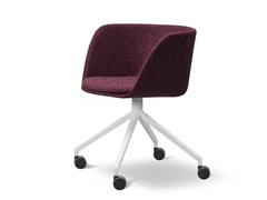- Fabric chair with 4-spoke base with casters VERVE | Fabric chair - FREDERICIA FURNITURE