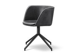 - Leather chair with 4-spoke base VERVE | Leather chair - FREDERICIA FURNITURE