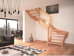 Scala a giorno in legnoVISIO - RINTAL BY STAIRS STUDIO
