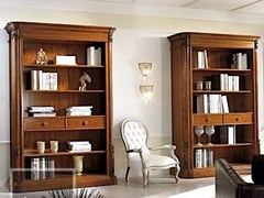 - Open solid wood bookcase VIVRE LUX | Solid wood bookcase - Arvestyle