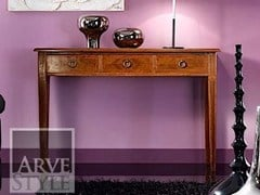 - Solid wood console table with drawers VIVRE LUX | Rectangular console table - Arvestyle