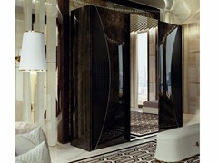 Armadio in pelle per hotel con specchioVOGUE | Armadio - TURRI