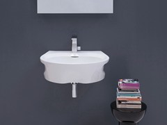 - Wall-mounted ceramic washbasin VOID 60 - CERAMICA FLAMINIA