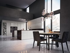 Cucina componibile in marmo con isola VOLUMIA - GOLD EDITION - FEBAL CASA BY COLOMBINI GROUP