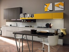 Cucina componibile laccata lineare VOLUMIA | Cucina - FEBAL CASA BY COLOMBINI GROUP