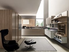 Cucina componibile laccata lineare VOLUMIA | Cucina lineare - FEBAL CASA BY COLOMBINI GROUP
