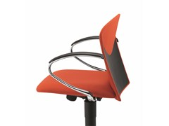 - Fabric task chair with 5-Spoke base with armrests with casters VULCAN 1310 Z - TALIN