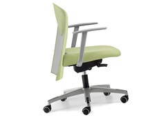 - Fabric task chair with 5-Spoke base with armrests with casters VULCAN 1432 Z - TALIN