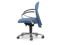 - Fabric task chair with 5-Spoke base with armrests with casters VULCAN 1442 Z - TALIN