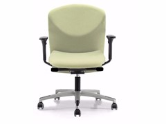 - Fabric task chair with 5-Spoke base with armrests with casters VULCAN 1447 Z - TALIN