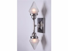 - Direct light handmade nickel wall lamp NEW YORK V | Wall lamp - Patinas Lighting