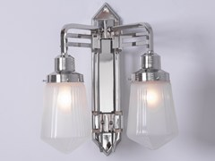- Lampada da parete a luce diretta fatta a mano in nichel HOFFMANN II | Lampada da parete - Patinas Lighting