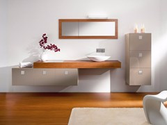 Mobile lavabo in legno con cassettiCOUNTER | Mobile lavabo sospeso - CARMENTA